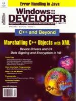 Windows:: Developer, January, 2002